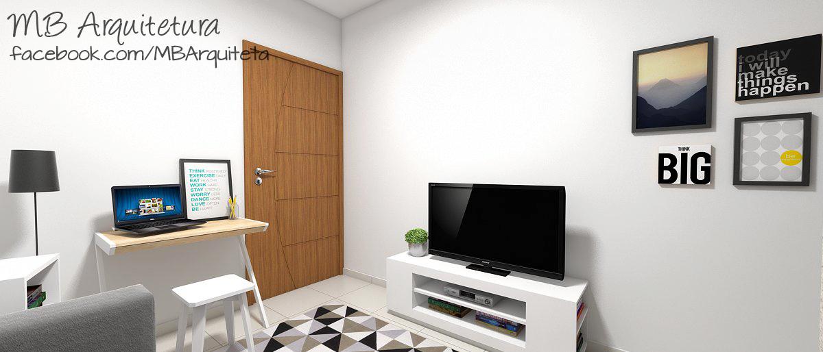 Sala de estar pequena 12b