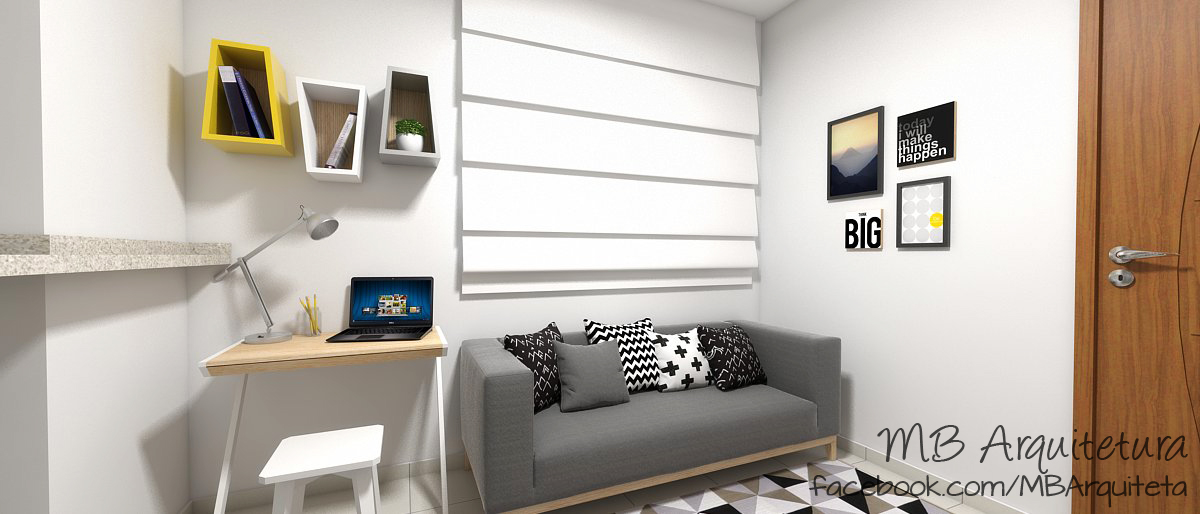 Sala de estar pequena 13b