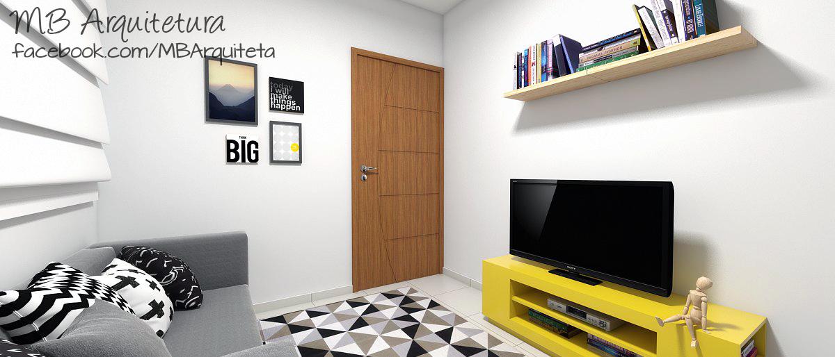 Sala de estar pequena 14b
