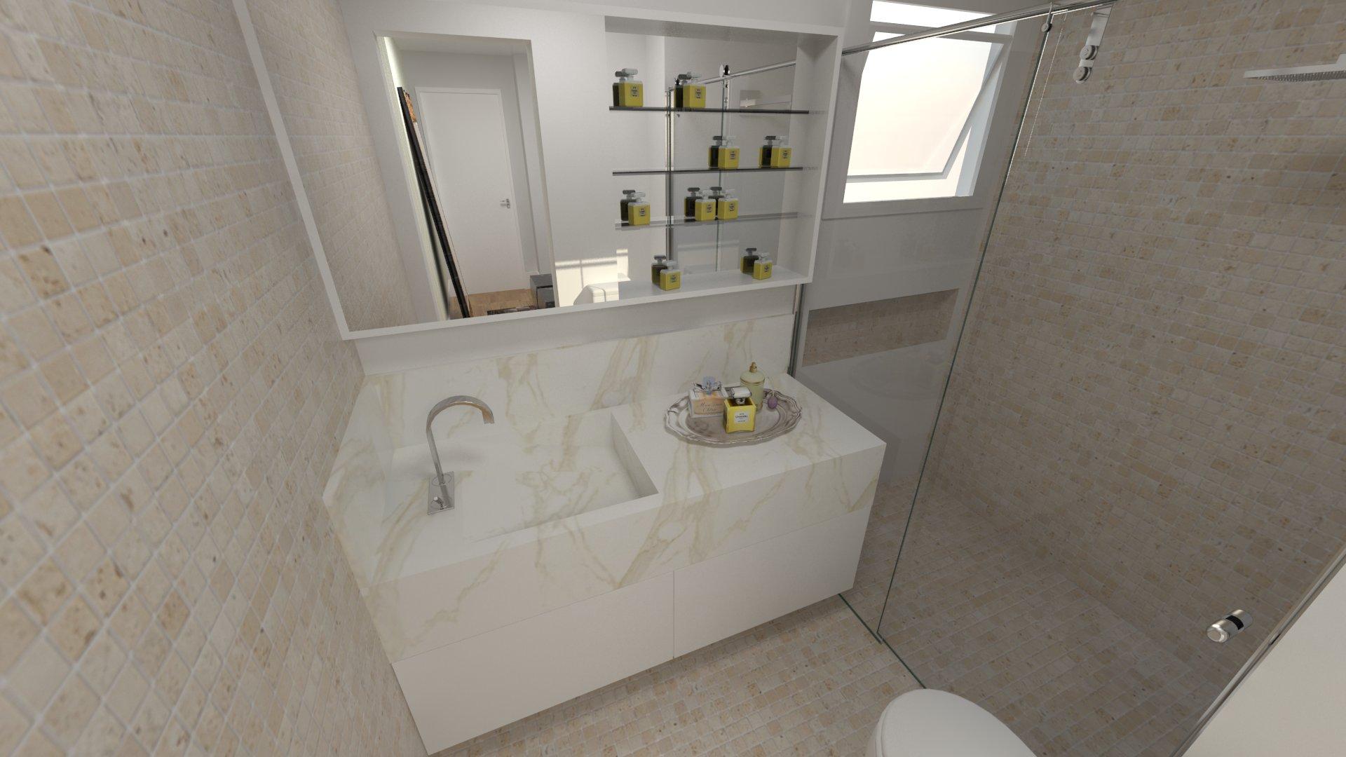 Banheiro suite ap 1