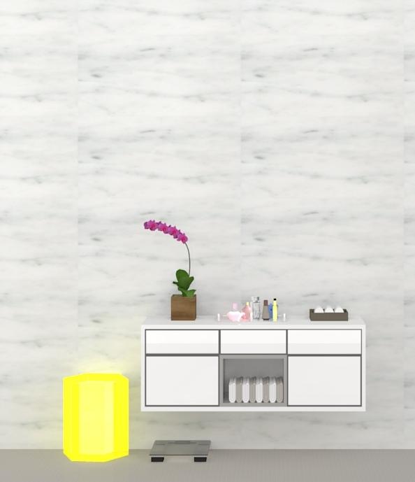 Banheiro moderno bancada em detalhe