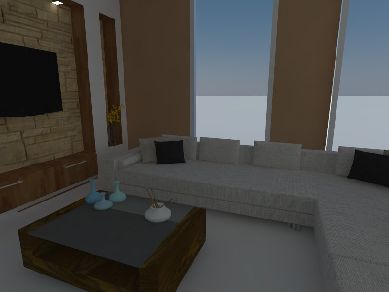 Sala casa da praia