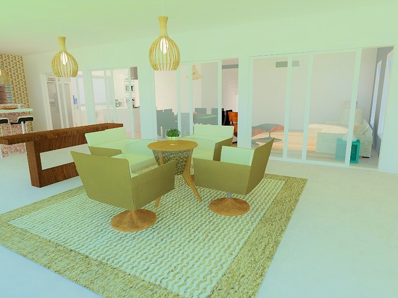 Casa e jardim   casa praia   vizzuale arquitetura  lounge externo