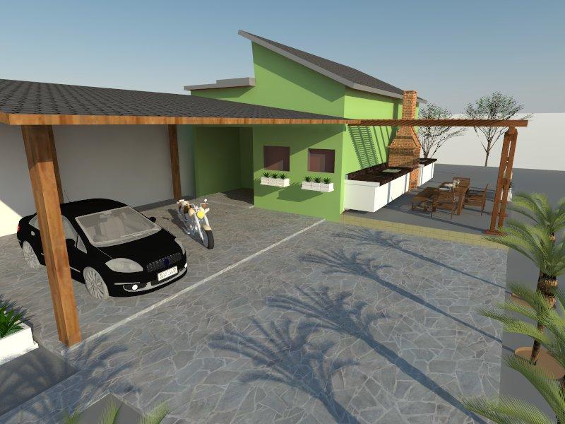Garagem e churrasqueira
