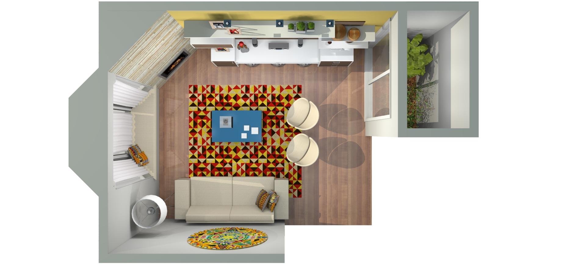R 1 planta baixa sala de estar