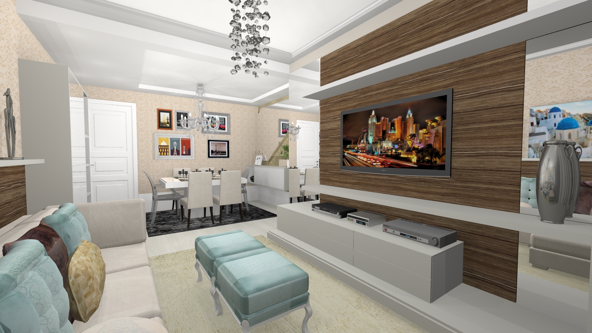 O Seu Projeto -> Sala De Jantar Pequena Clean